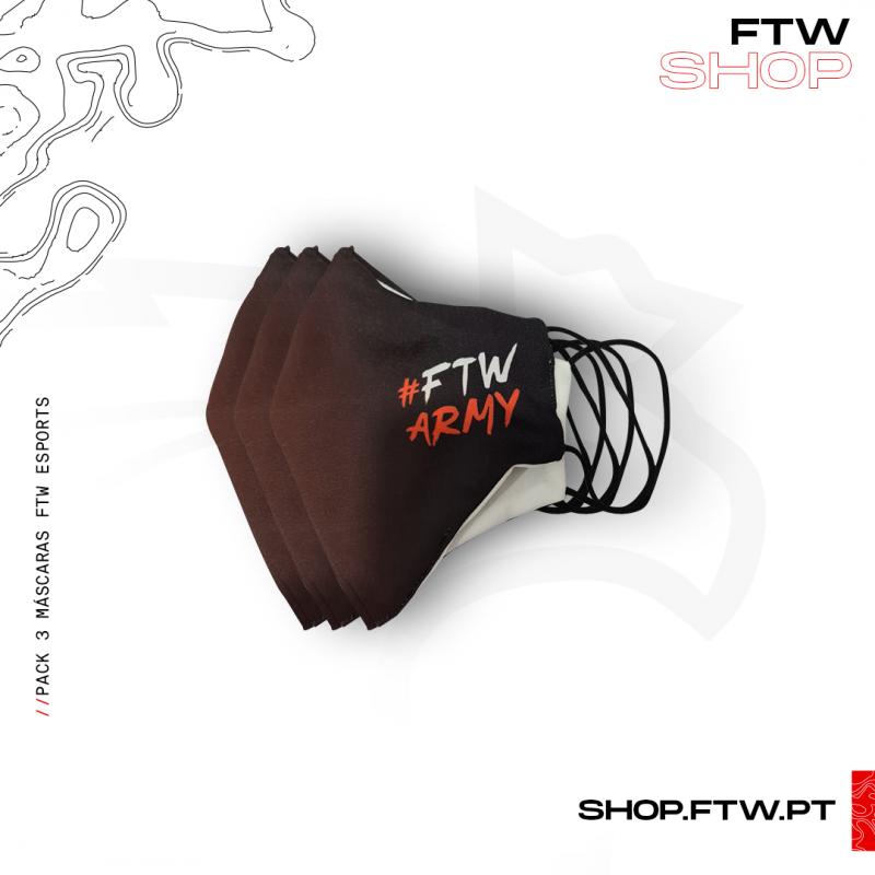 Máscara FTW Esports - Pack de 3 Unidades